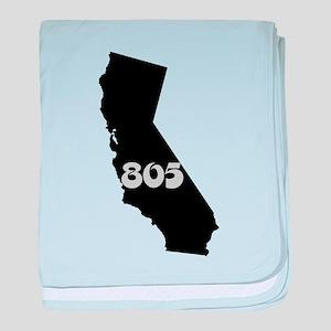 CALIFORNIA 805 [3 black/gray] baby blanket